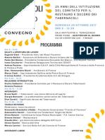 CONVEGNO 29.10.2017 - Programma