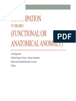 Constipation in Children (Functional or Anatomical)