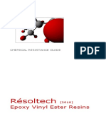 RESOLTECH Chemical Resistance Guide