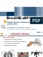 Available Theses Industrial Robotics October 2016