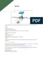 CCNA_Access List Simulation 1