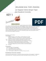 Tips & Trik Soal TOEFL Reading