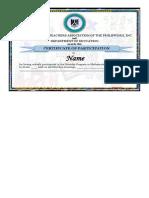 Sample Certificate Mtap