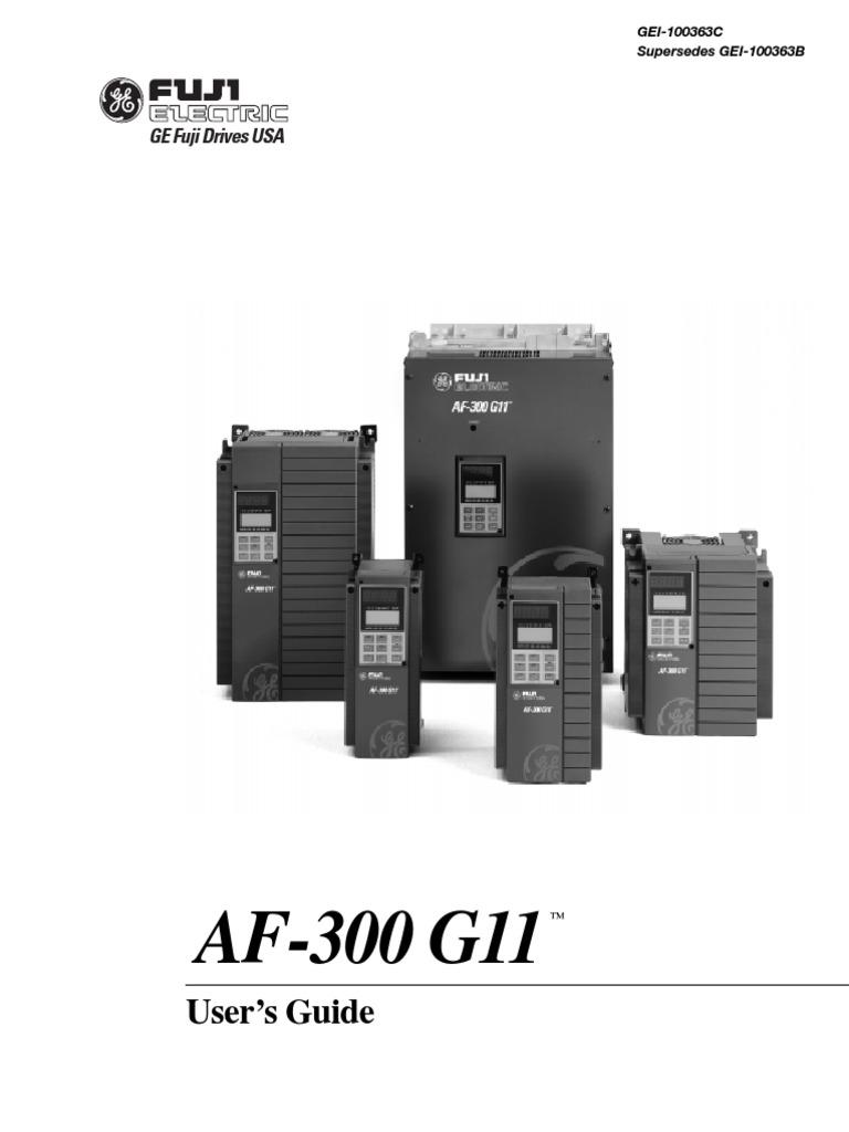 fuji af300 g11 manual pdf electrical wiring power supply rh scribd com GE Motor Starter Heater Chart GE 300 Line Control Starter