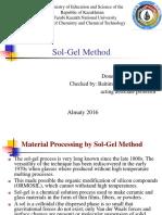 Sol Gel Method