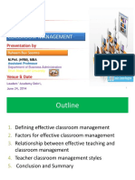 EFFECTIVE CLASSROOM MANAGEMENT by RB Soomro.ppt