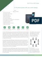 Yealink W60 VoIP High-Performance IP DECT Phone Datasheet