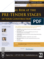Managing Risk at the Pre Tender Stage