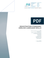AHPRA Registration Standard English Language Skills 1 July 2015