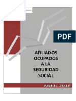 Datos Afiliación Abril 2016