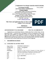 Advt No.ER-02-2010