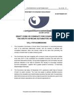 Automotive Government Gazette - Competition Commission