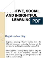 Cognitive, Social and Insightful Learning & Memory