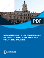 Tbilisi City Council Performance Report