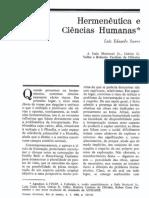 Hermeneutica e Ciências Humanas- LESoares