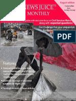 NewsJuice Monthly August Edition Shubham's IAS Chandigarh