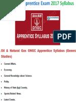 ONGC Apprentice Syllabus 2017 For 5738 Vacancies