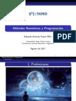 Métodos Numéricos y Programación