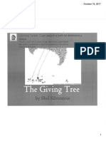 giving tree theme lesson