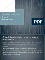 Knowing the Legal Dispute