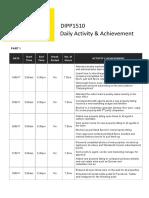daily activity   achievement log  1