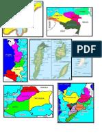 mapa División Regiones