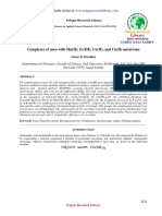 Complexes of Urea With Mnii Feiii Coii and Cuii Metal Ions