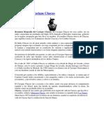 Biografia Del Cacique Chacao