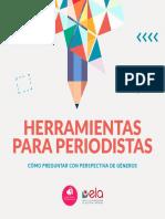 Herramientas para periodistas con perspectiva de género