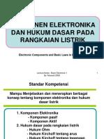 Komponen Elektronika Dan Hukum Dasar Pada Rangkaian