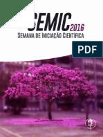 Livro de resumos da 25ª SEMIC UERJ - 2016