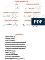 integrales hiperbolicas