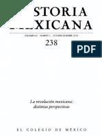 Historia Mexicana 238 Volumen 60 Número 2 - La revolución mexicana_distintas perspectivas.pdf