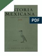 Historia Mexicana 249 Volumen 63 Número 1.pdf