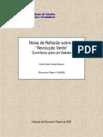 """CASTEL-BRANCO, C. N. Notas de Reflexão Sobre a """"Revolução Verde"""