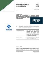 NTC 4073-2014 Cementos. Masa referencia y equipos para ensayos físicos.pdf