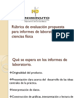 Rubrica de Evaluación Propuesta Para Informes de Laboratorio