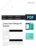 ¿Como Crear Diálogos En Android_