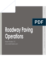 Roadway Paving Operations