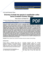 Diversity of Shade Tree Species in Smallholder Coffee Farms of Western Oromia Ethiopia