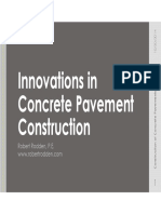 Innovations in Concrete Pavement Construction