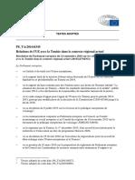 Résolution Du Parlement Européen Sur Les Relations de l'Union Avec La Tunisie