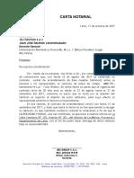Carta Notarial entregando vehiculo