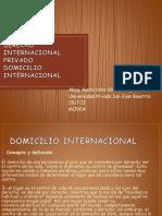 DERECHO INTERNACIONAL PRIVADO Domicilio Internacional