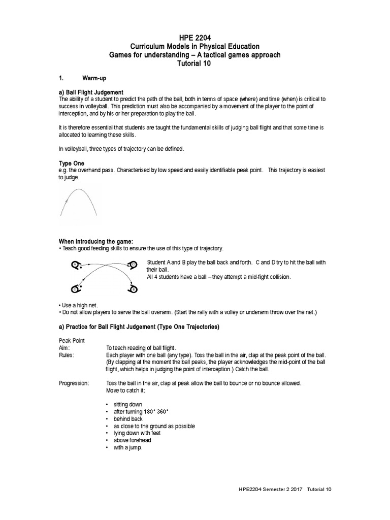 hpe 2204 tutorial 10 17 | volleyball | sports rules and regulations