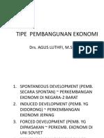 Tipe Model Pembangunan Ekonomi
