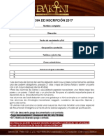 Ficha de Inscripción Curso Danza Dakini