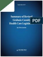 2017-SummaryGrahamCassidyHealthCareLegislation