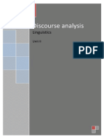 Discourse Analysis Unit II 2013