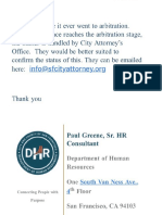 DHR response. No record of going to Arbitration